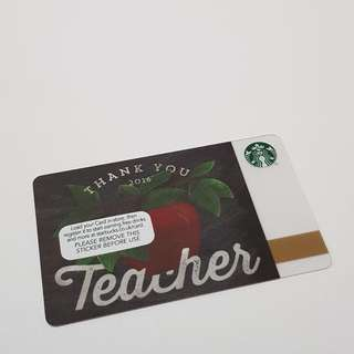 Starbucks Card UK Teacher Edition