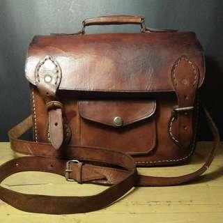 Tas Kulit Handmade Jadul, Vintage Looks