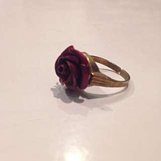 Metal Rose Ring (Set)
