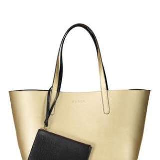 Authentic Saben Gold Tote