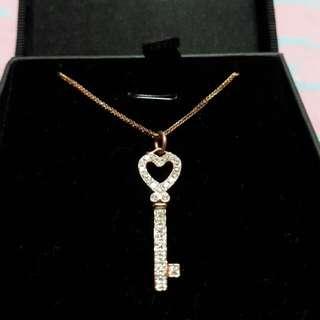 Meyson's Heart-Key Necklace (Rose Gold)