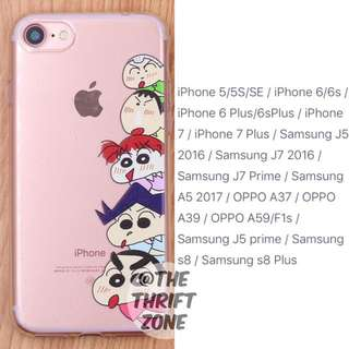 Shin Chan Printed Tpu Soft Case For Iphone/Samsung/Oppo