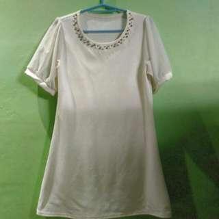Dirty White Korean Dress