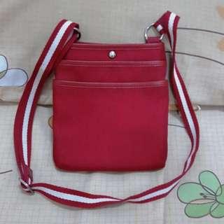 Bally Red slingbag original not gucci lv hermes bottega salvatore prada tods