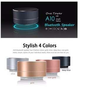 Wireless Bluetooth Metallic Design Mini Subwoofer Speaker