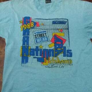 Super Ultra Rare Vintage Bmx Tournament Tees 1988 (Vision Street Wear X ABA X Skyway)