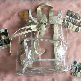 Brandy Melville Clear Backpack