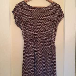 Chevron Babydoll Dress