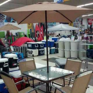Tent Umbrella With Four Chair