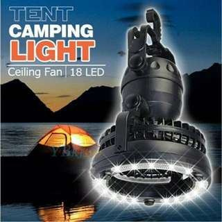 2 in 1 Camping Light and Fan