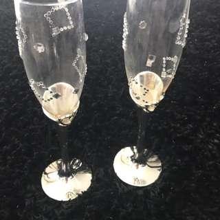 Very Elegant Silver Wine Glass