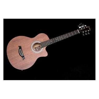Techno Mahagony Semi Acoustic Guitar with EQ 38