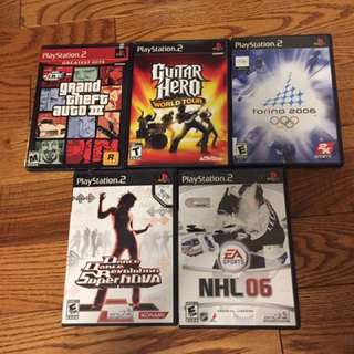 Lot Of 5 PS2 Games