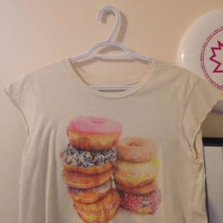 Brandy Melville Cropped Donut Shirt