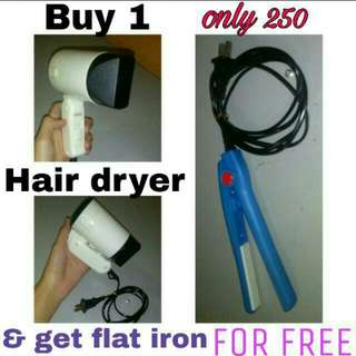 FC9808 Hair Dryer w/ FREE mini Flat Iron