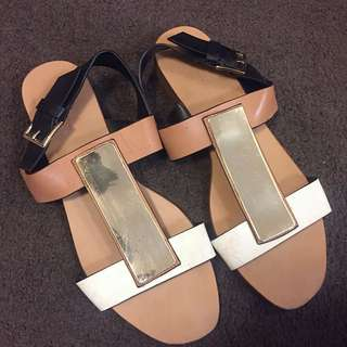 Zara Summer Flat Sandal - Size 38