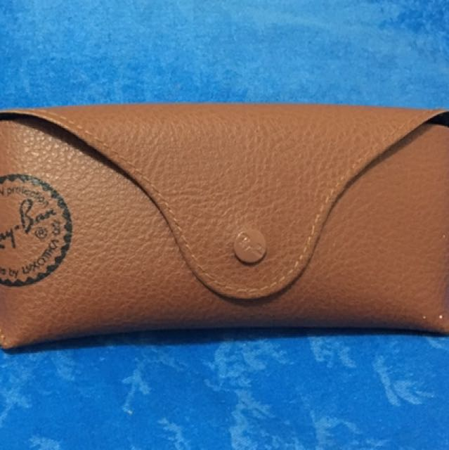 100% Authentic Ray Ban Brown leather Glasses Case Only