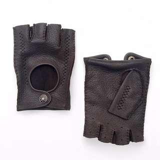 手縫鹿皮半指手套