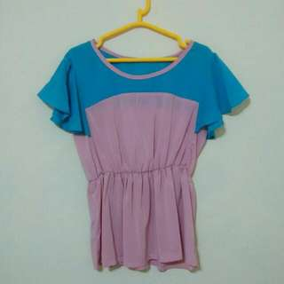 Blue Pink Top
