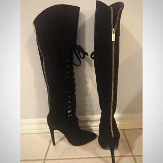 Bebe Suede Tall Boots -Sz. 5