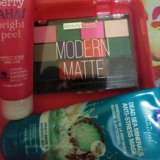 Preloved Beauty Treats Eyeshadow, Etude Berry Aha Peeling Scrub Cuma 100 Rb Free Ongkir