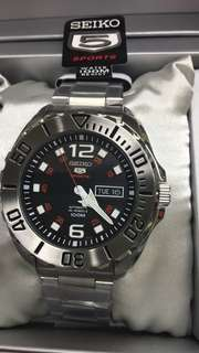 Seiko 5 Sports Stainless Steel Watch SRPB33K1
