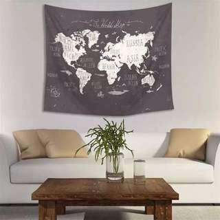 世界地圖壁毯 World Map Tapestry