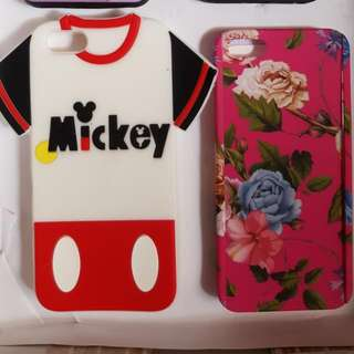 Iphone 5,5s,SE   Mickey Rubber And 360 Floral Case