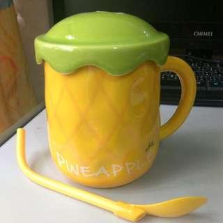 鳳梨陶瓷杯