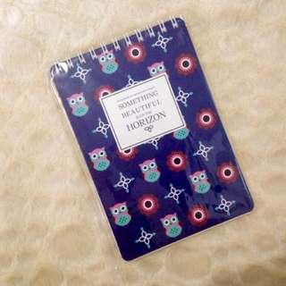 Owl Unruled Spring Notebook