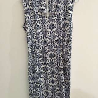 dress batik bodycon