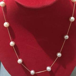 18k Japan Gold With Freshwater Pearl Necklace