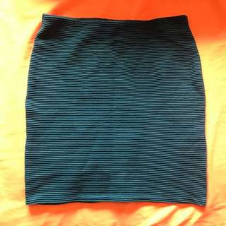 Forever21 Teal Bandage Skirt