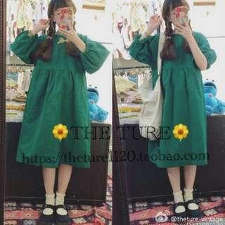 很綠的洋裝