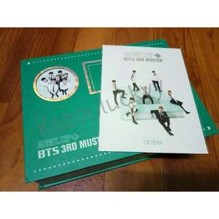 <WTS> BTS 3RD MUSTER DVD + POSTCARD