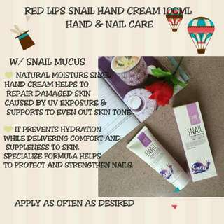 Red Lips Snail Hand Cream