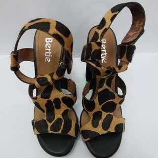 Leopard Skin Strapped Heels