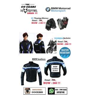 !!! The MONSTER SALES !!!    BMW Products Jackets and Gloves