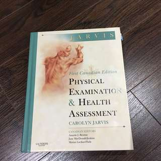 Jarvis, Physical Examination And Health Assessment 1st Canadian Edition