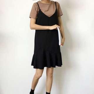全新黑色連身裙