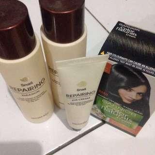 Snail Repairing Secret Key: Eye Cream, Emulsion Dan Toner
