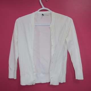J.Crew Long Sleeve White Cardigan