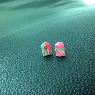 Local Rainbow Bread Earrings