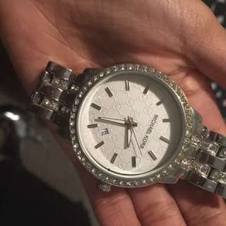 Micheal Kors Silver Diamond Watch