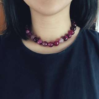 Purple Shades Short Necklace
