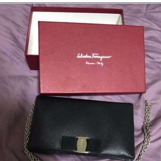 Salvatore Ferragamo Miss Vara Clutch WOC
