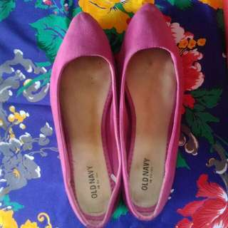 Old Navy Pink Comfy Pointed Flats