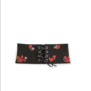 Waist Belt Stretchy Faux Leather Waistband