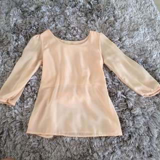 Blouse Peach Sifon