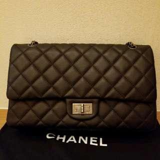 Chanel black classic flap handbag